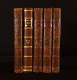 1785 5vol The History of England From Revolution to George II T. Smollet