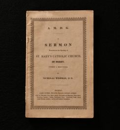 1839 A Sermon Preached at the Opening of St. Mary's Catholic Church, in Derby