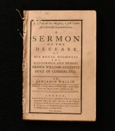 1765 The Fall of the Mighty, a Just Cause of Universal Lamentation. A Sermon on