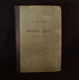 1884 Book of Facsimiles of Monumental Brasses Europe Creeny Illustrated Uncommon