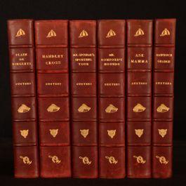 """c1892 6vol Works of Surtees """"Jorrocks"""" Edition Illustrated Colour"""