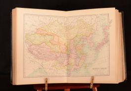 1890 Library Reference Atlas of the World Bartholomew Coloured Maps Very Scarce