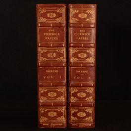 1932 2vol Pickwick Papers Dickens Bayntun Binding Lombard Street Edition Illustrated