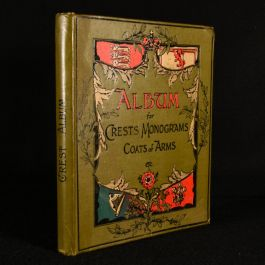 c1895 Album for Crests, Monograms, Coats of Arms, Postmarks etc
