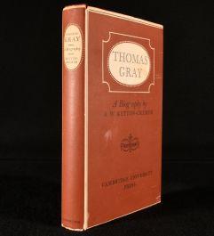 1955 Thomas Gray: A Biography