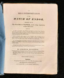 1831 A True Interpretation of the Witch of Endor