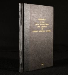 1791 Remarks on the Oath Declarations and Conduct of John Atkinson Busfield