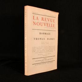 1928 La Revue Nouvelle Hommage a Thomas Hardy