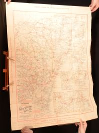 c1906 Pearson's Road Map of New South Wales Robinson Folding Map Very Scarce