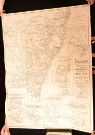 1912 Pearson's Cyclist's Traveller's Road Map New South Wales Folding Map Scarce