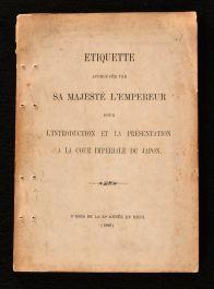 1889 Etiquette Approuvée Pa Sa Majesté L'Empereur
