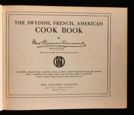 1928 The Swedish, French, American Cook Book