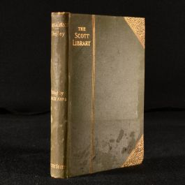c1886 Essays and Letters by Percy Bysshe Shelley