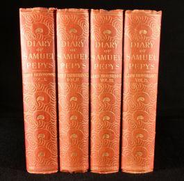 1906 4vol Diary and Correspondence of Samuel Pepys