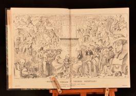 1878-1886 14 Vol Punch Magazine Binannual Illustrated Almanac Half Morocco