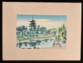 c1970 Twelve Wood Block Prints of Kansai