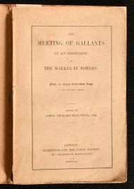 1841 The Meeting of The Gallants at an Ordinarie
