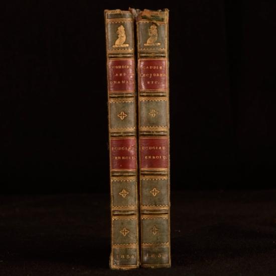 1852-4 2vols Mrs Caudles Curtain Lectures Comedies Dramas